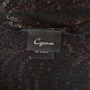 Cejon Accessories - Black wrap with sequins